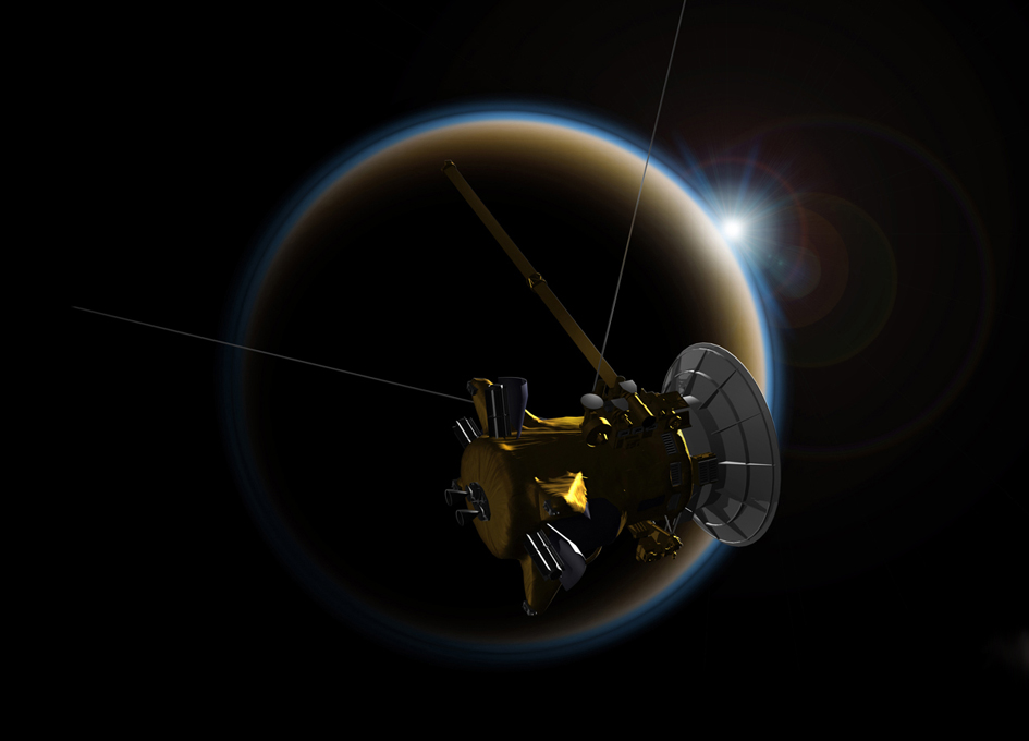 Cassini Headed for Saturn Plunge After Titan 'Goodbye Kiss'