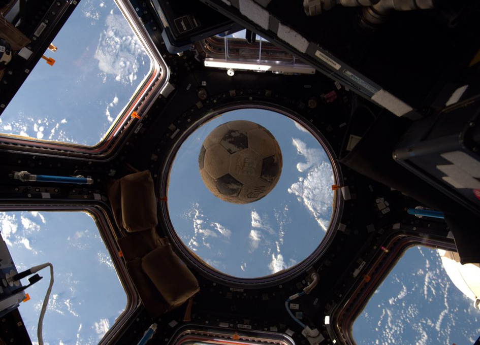 Challenger's Soccer Ball Finally Reaches Space