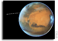 Phobos Photobombed Mars While Hubble Was Watching