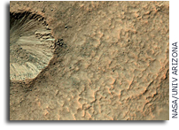 A Small Crater on a Larger Crater's Wall