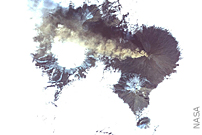 Erupting Russian Volcano Seen From Orbit