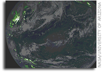 OSIRIS-REx Vegetation Index of Earth with MapCam Color Image Overlaid