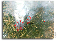 Fires in Portugal As Viewed From Space