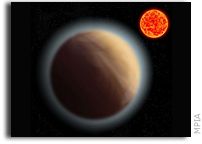 Atmosphere Around Low-mass Super-Earth Detected