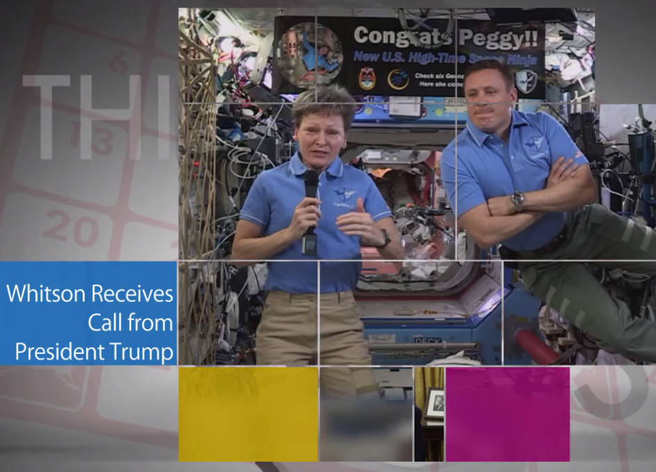 Trump congratulates NASA astronaut