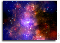 Chandra Peers Into A Giant Molecular Cloud