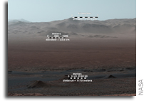 Mars Curiosity Rover Looks Back On Its Travels