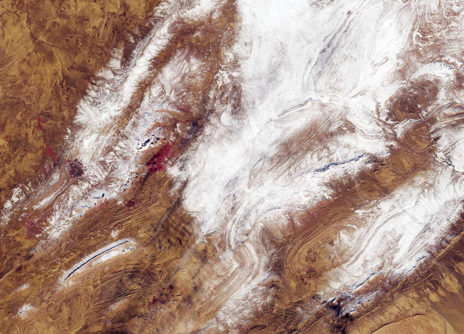 Earth from Space: Sahara Snow