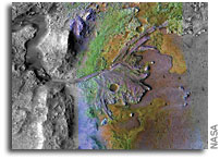 At Future Mars Landing Spot, Mineral Could Preserve Signs of Ancient Life