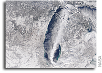 Mesovortex Over Lake Michigan Viewed From Space