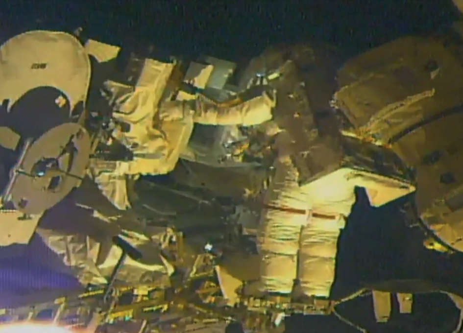 NASA astronaut in ISS conducts first spacewalk of year