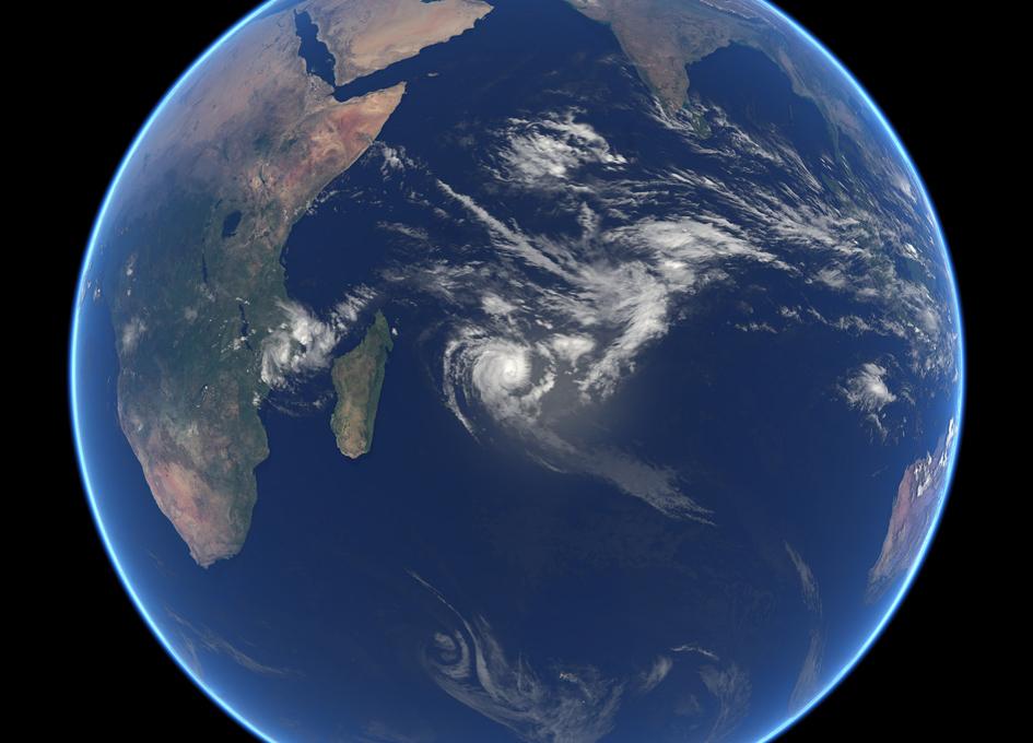 Orbital View Of Tropical Cyclone Berguitta
