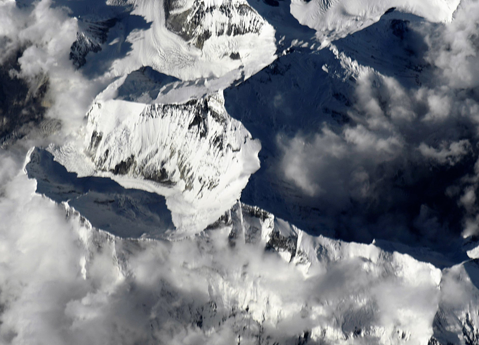 Closeup View of Mt. Everest As Seen From Orbit