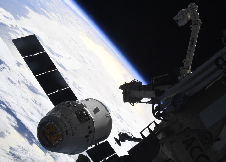 A Dragon Arrives In Space