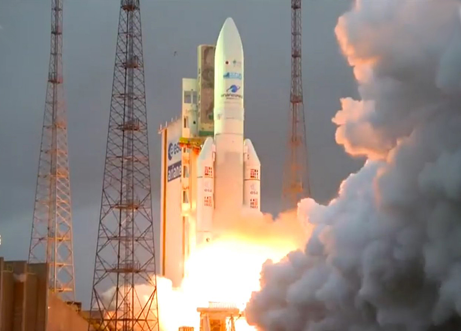 Arianespace Launches DSN-1/Superbird-8 and HYLAS 4