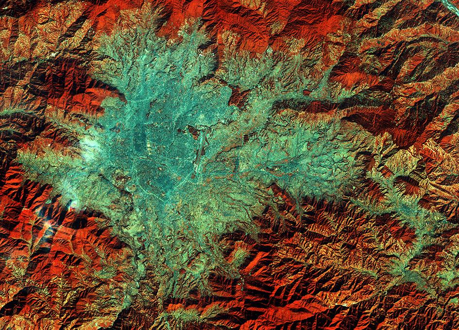 Kathmandu, Nepal As Seen From Orbit