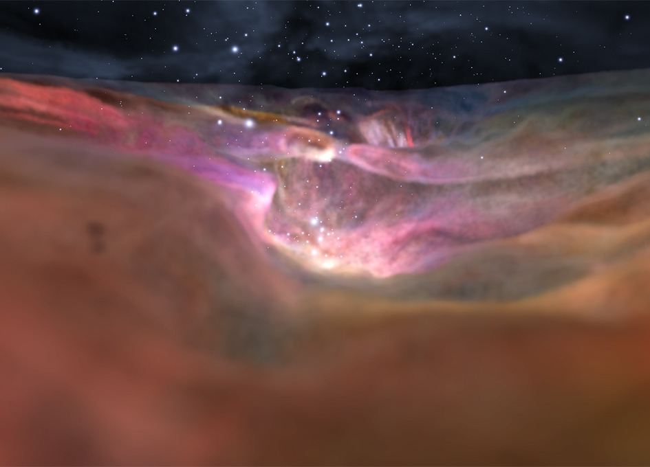 Fly Through Sparkling Orion Nebula in a New 3-D Visualization
