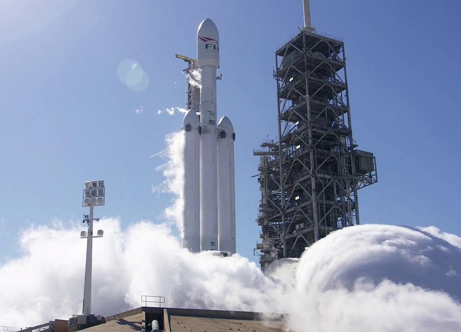 Falcon Heavy Roars To Life