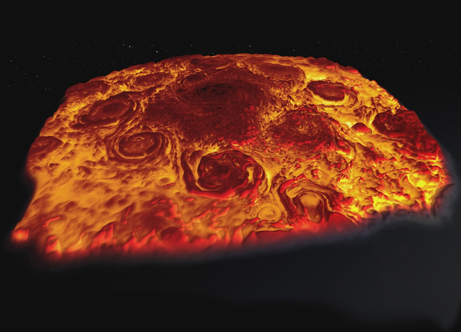 Scientists Explore the North Pole of Jupiter with a 3D Infrared Movies