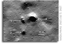 Possible Lava Tube Skylights Discovered Near the North Pole of the Moon