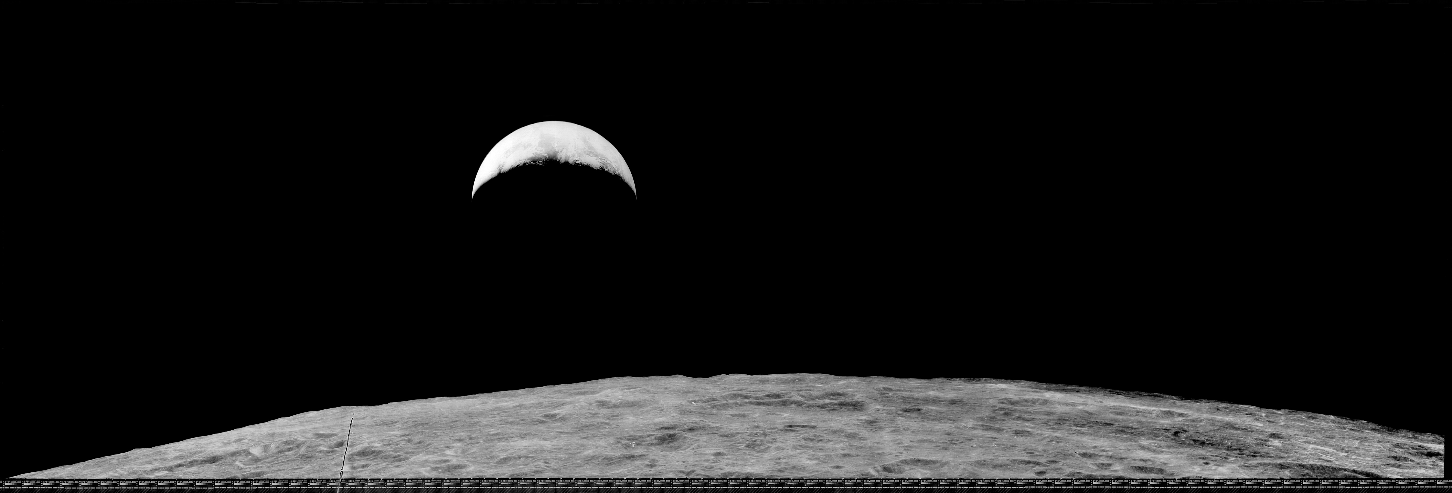 the 'other' lunar orbiter 1 earthrise image - moonviews