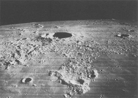 Lunar Orbiter III photo of Kepler crater.