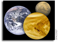 How the atmospheres of Mars and Venus are affected by carbon monoxide