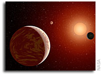 A Planetary System from the Early Universe