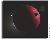 An Earth-mass Planet in a 1-AU Orbit Around a Brown Dwarf