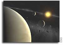 Trio of Neptunes and their Belt - HARPS Instrument Finds Unusual Planetary System