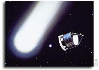 Giotto's brief encounter With Comet Halley