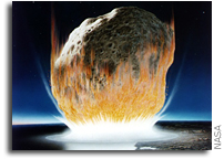 Earth's surface transformed by massive asteroids