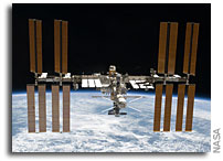NASA Holds News Conference On Space Station National Lab Award