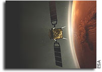 Astronaut's eye view: Mars Express orbiting the Red Planet