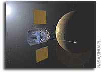 MESSENGER Team Receives First Optical Navigation Images of Mercury