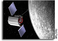 Deep-Space Maneuver Positions MESSENGER for Mercury Orbit Insertion