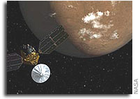 Mars Spacecraft Team up for Dust-Storm Season