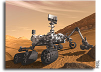 Camera Duo on Mars Rover Mast Will Shoot Color Views