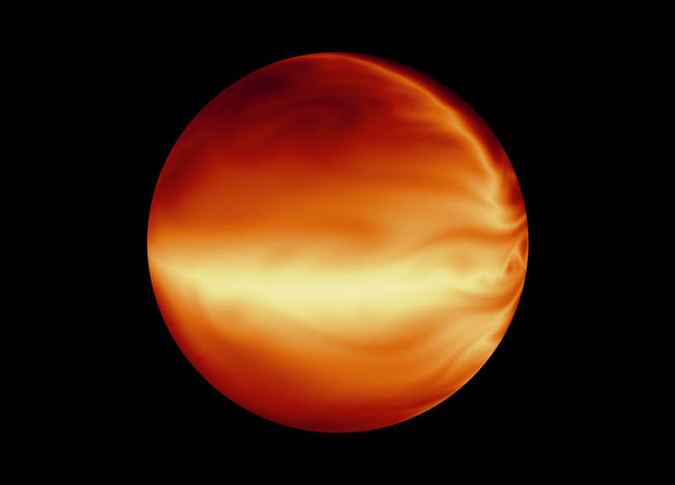Simulated Atmosphere of a Hot Gas Giant Planet