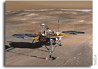 NASA Phoenix Lander Spacecraft Analyzing Martian Soil Data
