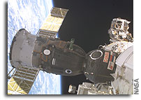 Space Station Crew Continues Progress Loading