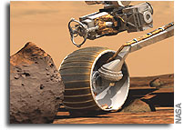 Rover Wheel Holes to be Used to Study Mars