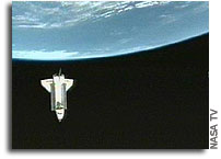 Secret Imaging of NASA Shuttle Discovery During STS-114 Mission