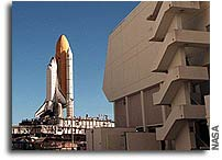 NASA's Space Shuttle Atlantis Moves to Launch Pad