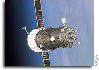 NASA TV Airs Space Station Soyuz Move