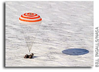 Expedition 26 Crew And Soyuz Capsule Land Safely In Kazakhstan