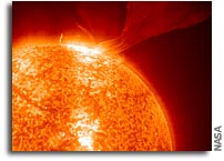 Navigation satellites contend with stormy Sun