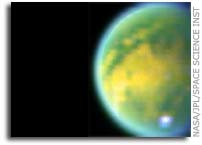 First Close Encounter of Saturn's Hazy Moon Titan