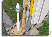 Vega rocket ready for first flight